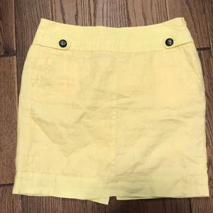 Banana Republic yellow Linen skirt
